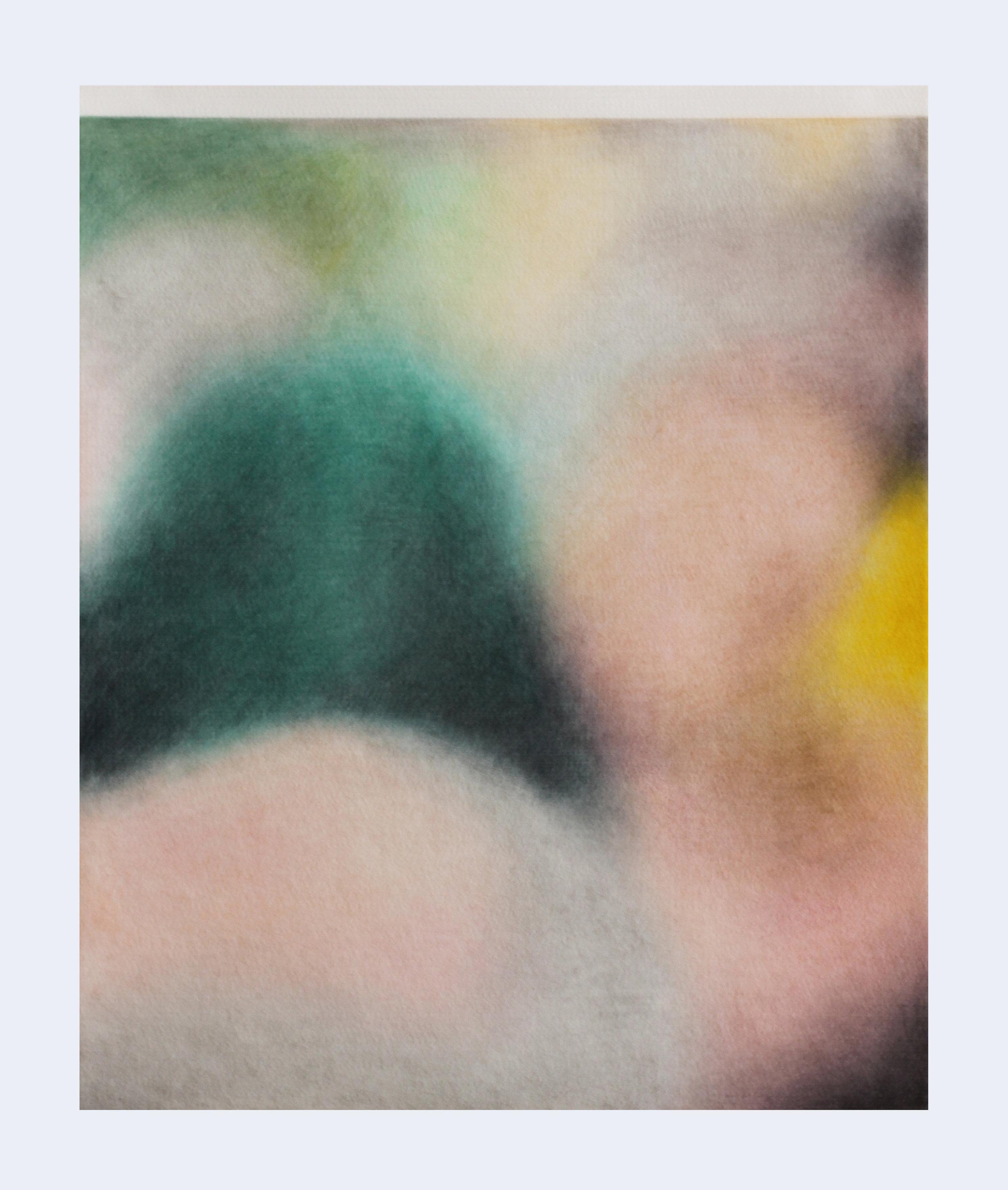 Série ''Relatives''- «  Baqa al-Gharbiyye, Israël, 23 janvier 2019 »  Drawing with color pencil on felt   Dessin aux crayons de couleur sur feutre 50x60cm 2019
