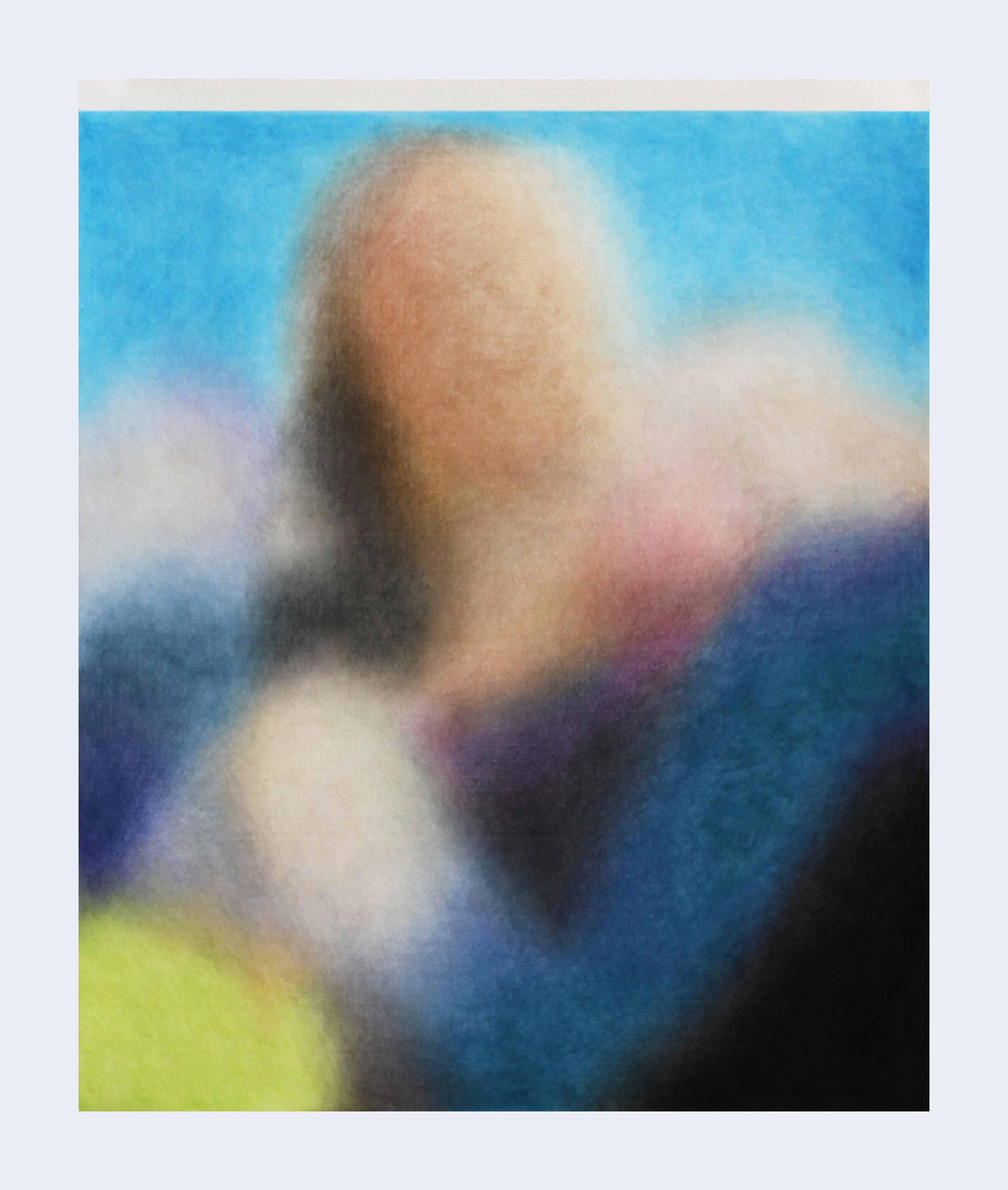 Série ''Relatives''- « Duhok , Irak, 4 mars 2019 »  Drawing with color pencil on felt   Dessin aux crayons de couleur sur feutre 50x60cm 2019