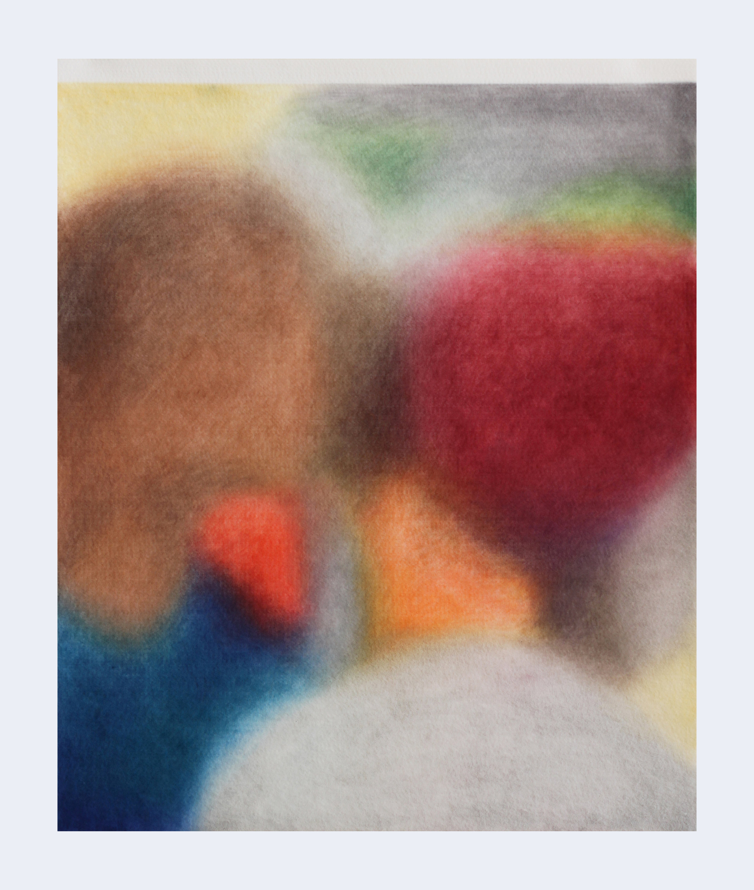Série ''Relatives''- «  Lagos, Nigeria, 13 mars 2019»  Drawing with color pencil on felt   Dessin aux crayons de couleur sur feutre 50x60cm 2019