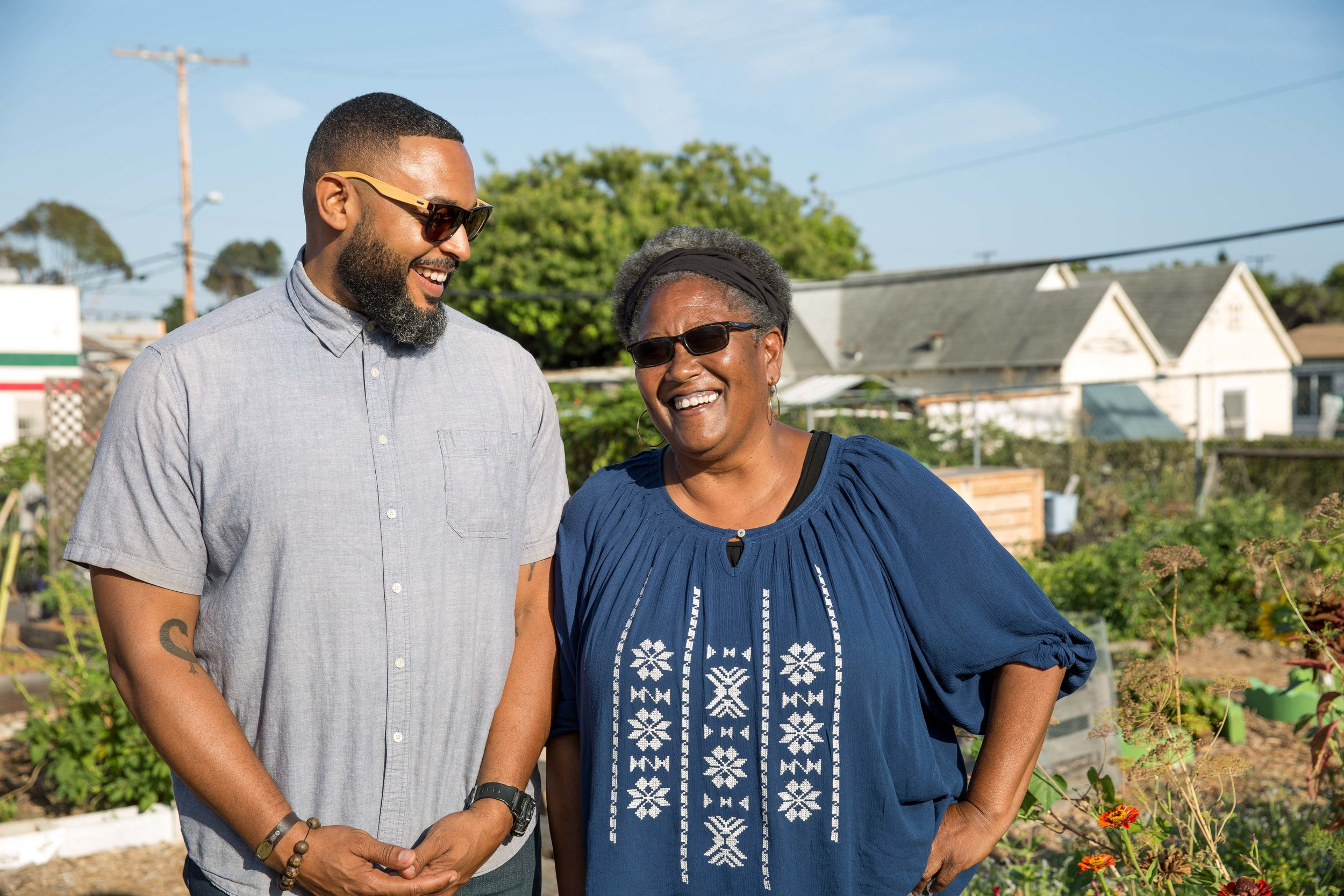 Diane Moss and Kamaal Martin of Project New Village (Photo Credit: Colin Leibold)