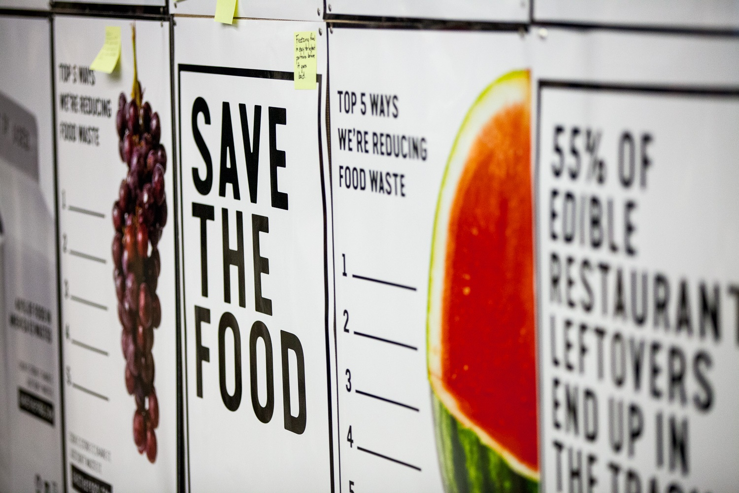 #SaveTheFood San Diego Launch Poster Wall @sdfoodsys  09-26-17