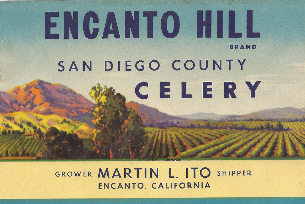 encanto hill brand, label of ito family farming business