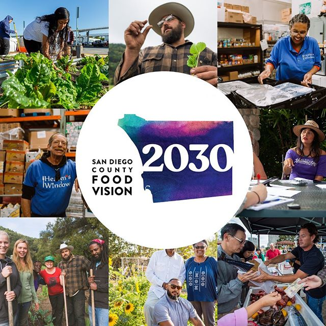We are beyond excited to announce that San Diego County Food Vision 2030 is underway! Follow us here to stay up-to-date on Food Vision 2030 events, news, and stories.  Over the next 18 months, we will engage with stakeholders at every point in the food system as well as the broader community to develop this 10-year strategic plan for our region's food system.