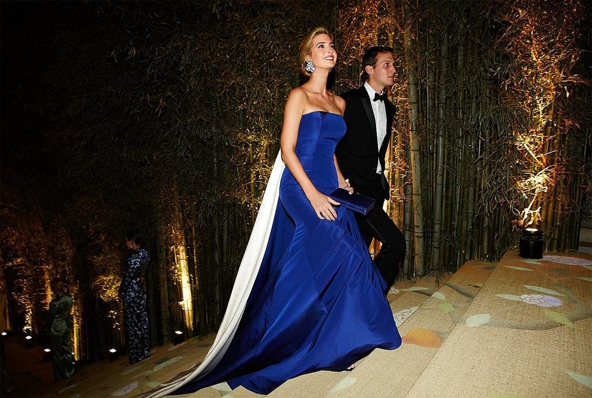 Ivanka Trump in Prabal Gurung and Jared Kushner. Photo by Taylor Jewell