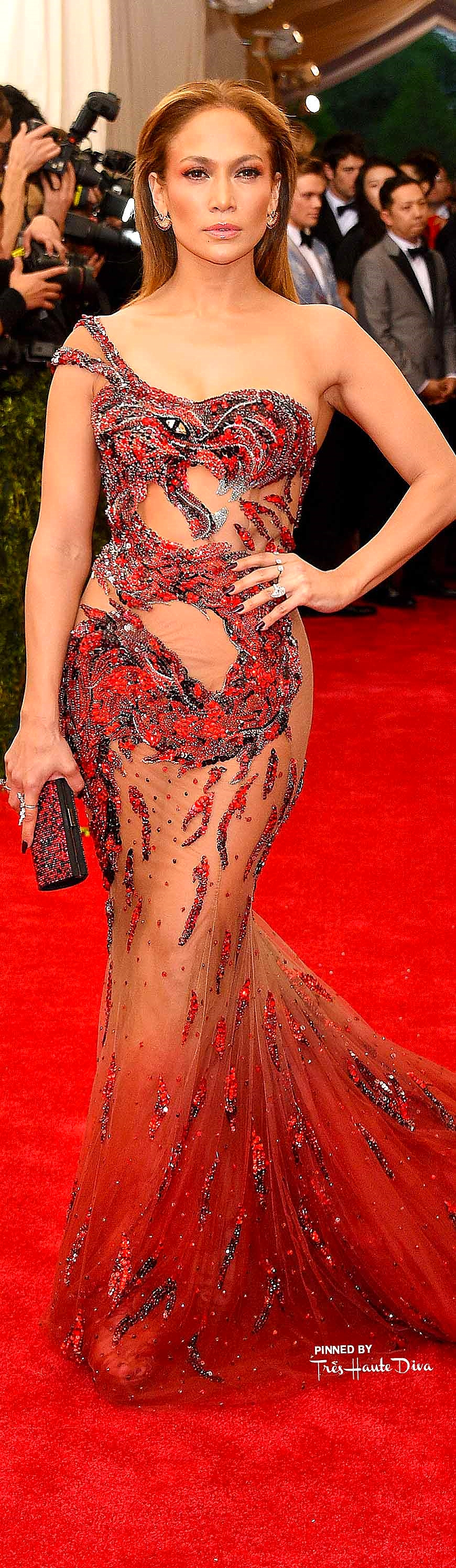 Jennifer Lopez in Versace Getty Images/ Larry Busacca