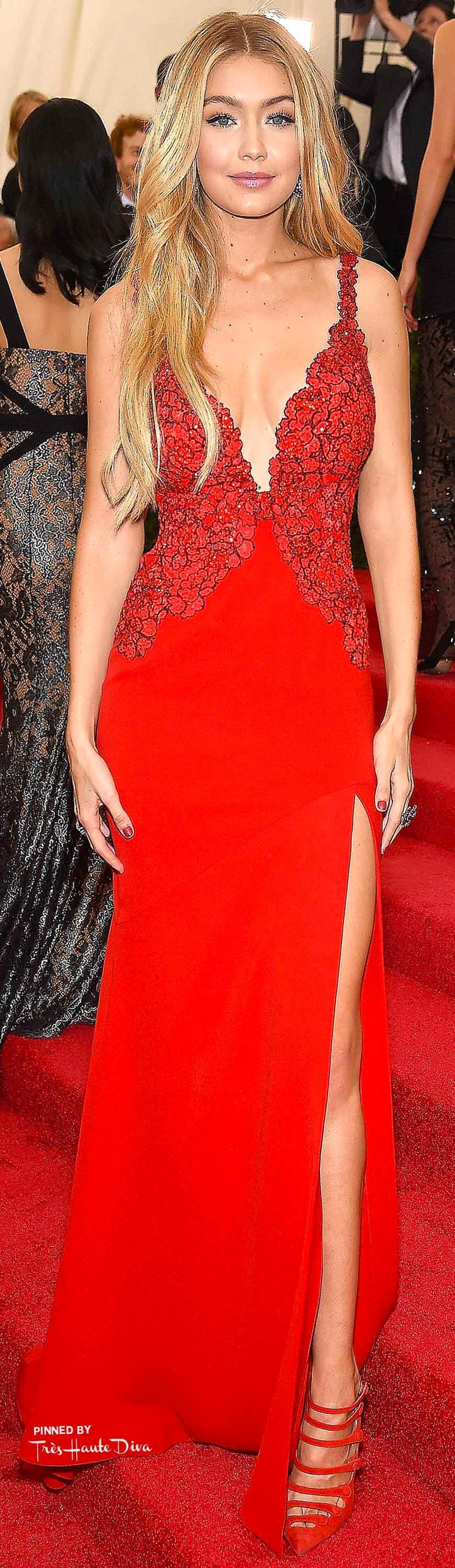Gigi Hadid in Diane von Furstenberg Getty Images/ Dimitrios Kambouris