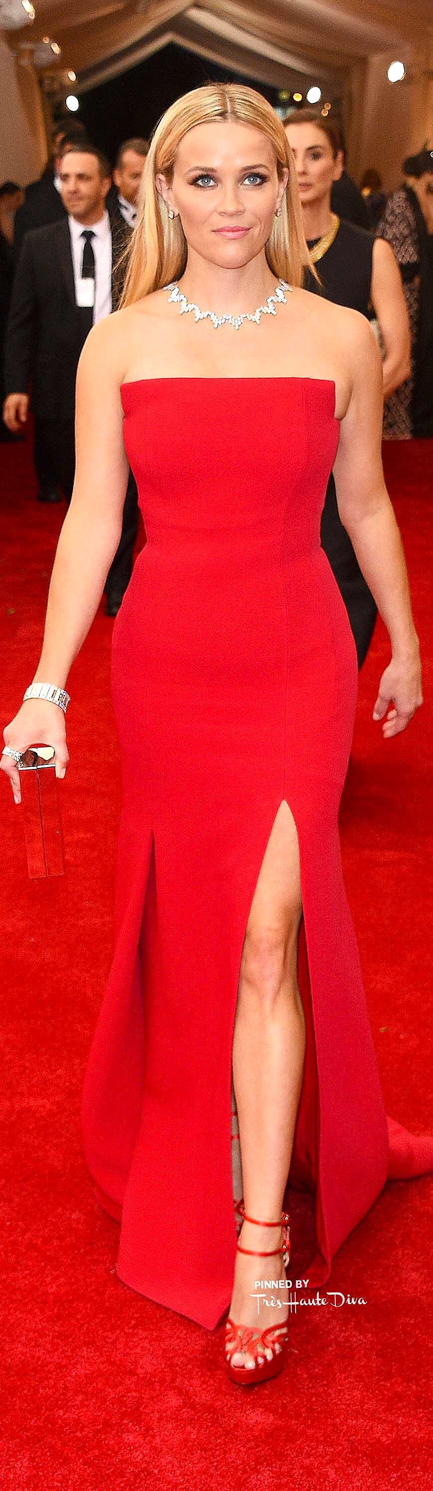 Reese Witherspoon in Jason Wu & Tiffany Jewelry Getty Images/ Larry Busacca