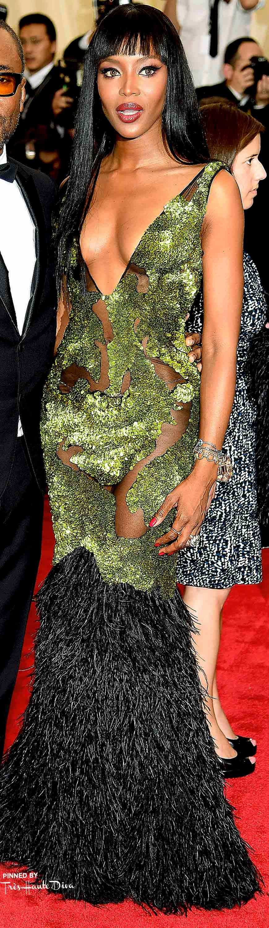 Naomi Campbell in Burberry Getty Images/ Dimitrios Kambouris
