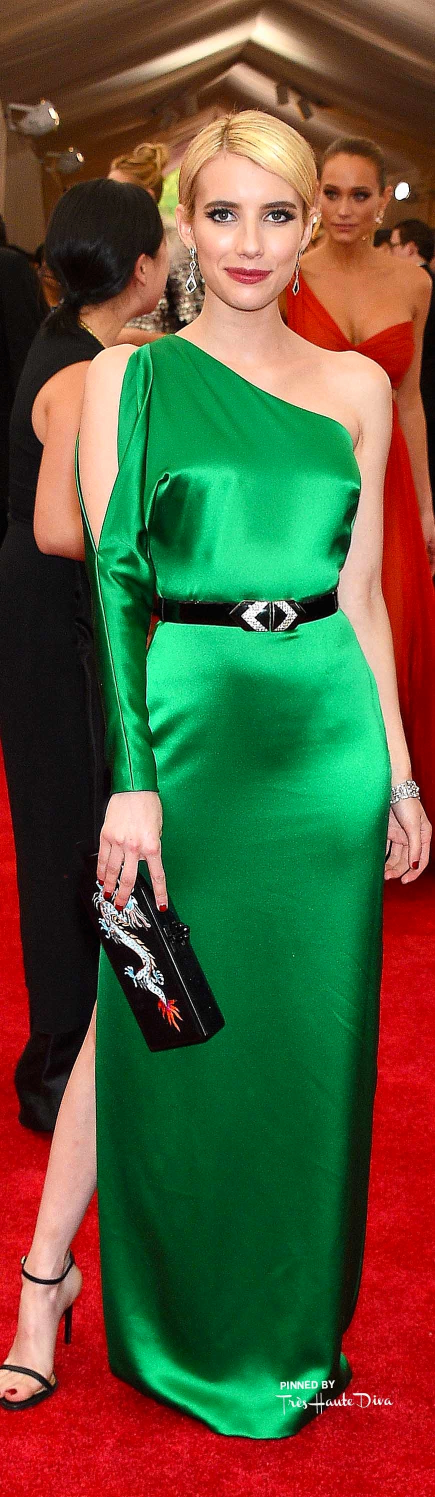 Emma Roberts in Ralph Lauren Getty Images/ Larry Busacca