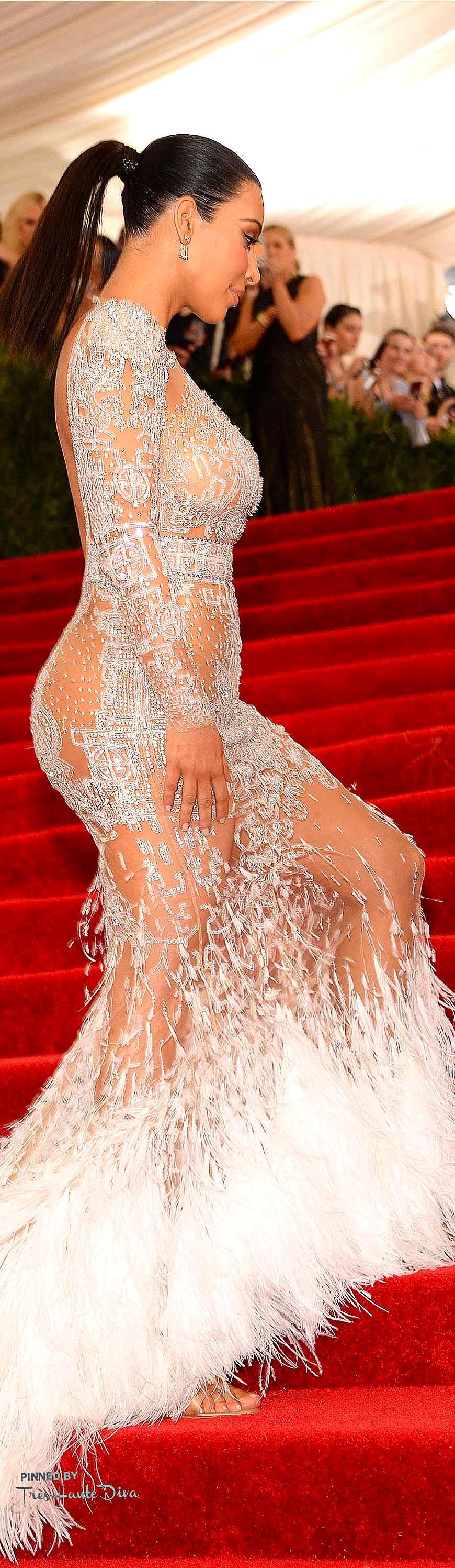 Kim Kardashian in Roberto Cavalli Getty Images/ Kevin Mazur