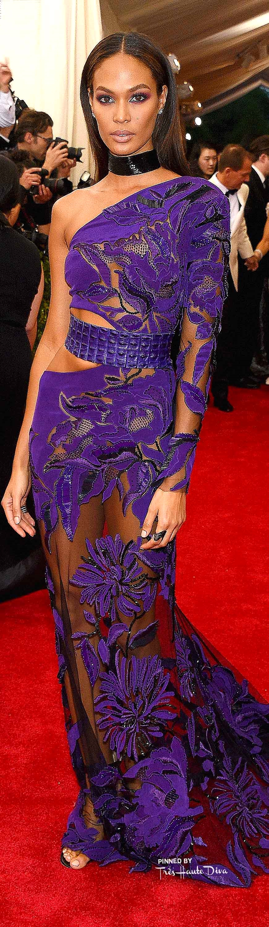 Joan Smalls in Roberto Cavalli & Chopard Jewelry Getty Images/ Larry Busacca