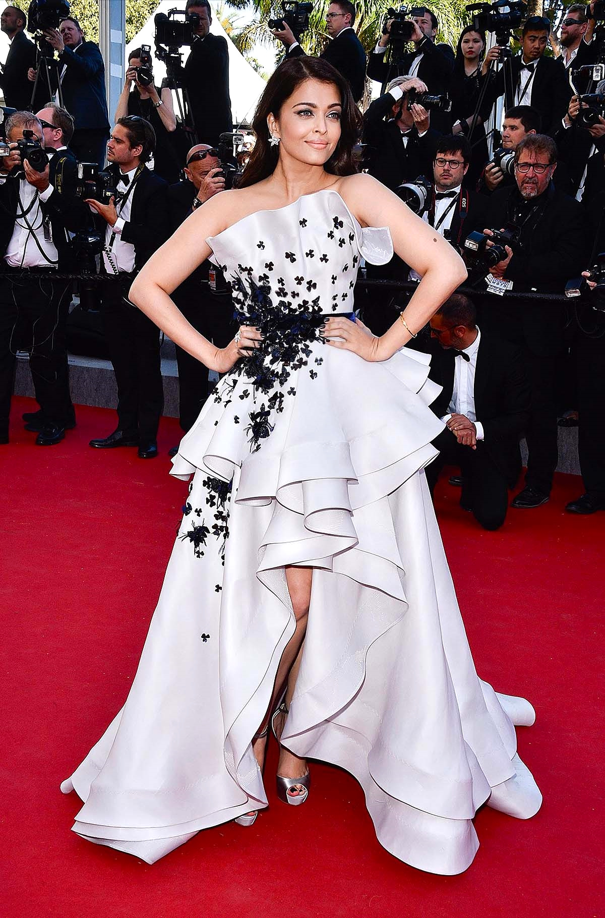 Aishwarya Rai in  Ralph & Russo Couture  Autumn/Winter 2014 Collection with Chopard jewels      vogue.co.uk/ Getty