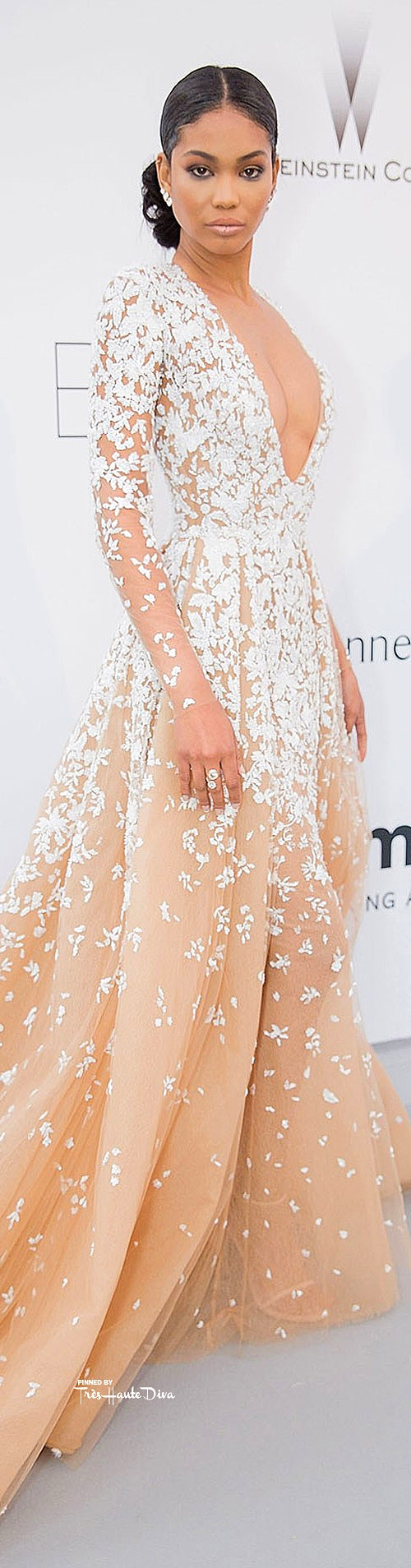 Chanel Iman in Zuhair Murad Couture               vogue.uk.com/ Getty