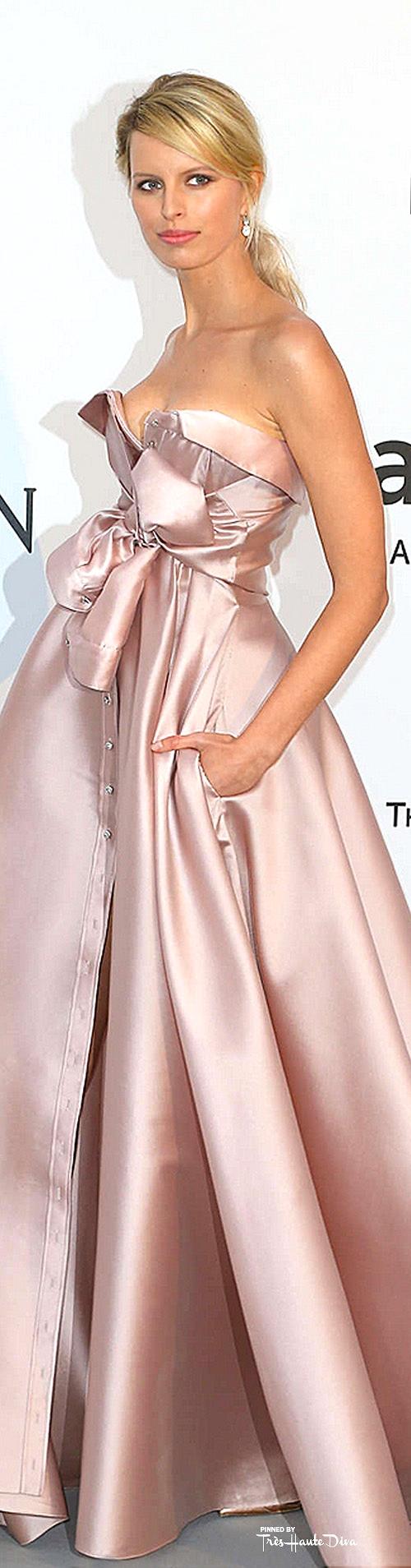 Karolina Kurkova in an Alexis Mabille Couture
