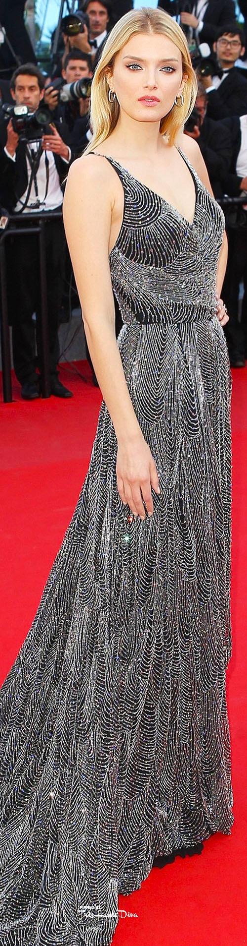 Lily Donaldson in Saint Laurent vogue.uk.com/ Getty