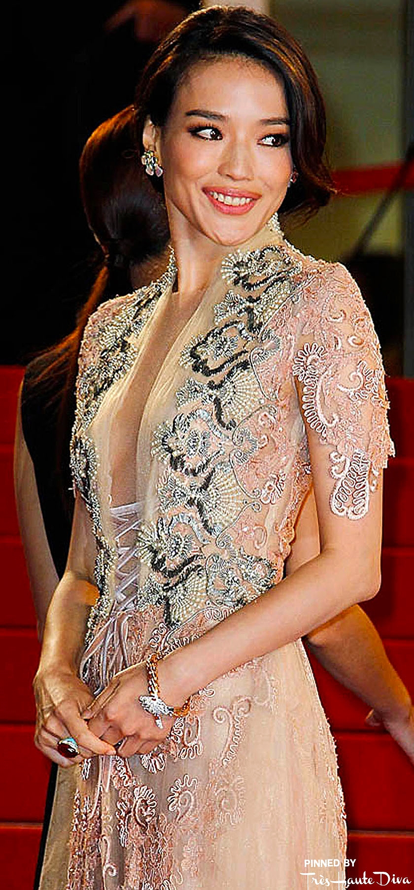 Shu Qi in Reem Acra  fashionsizzle.com