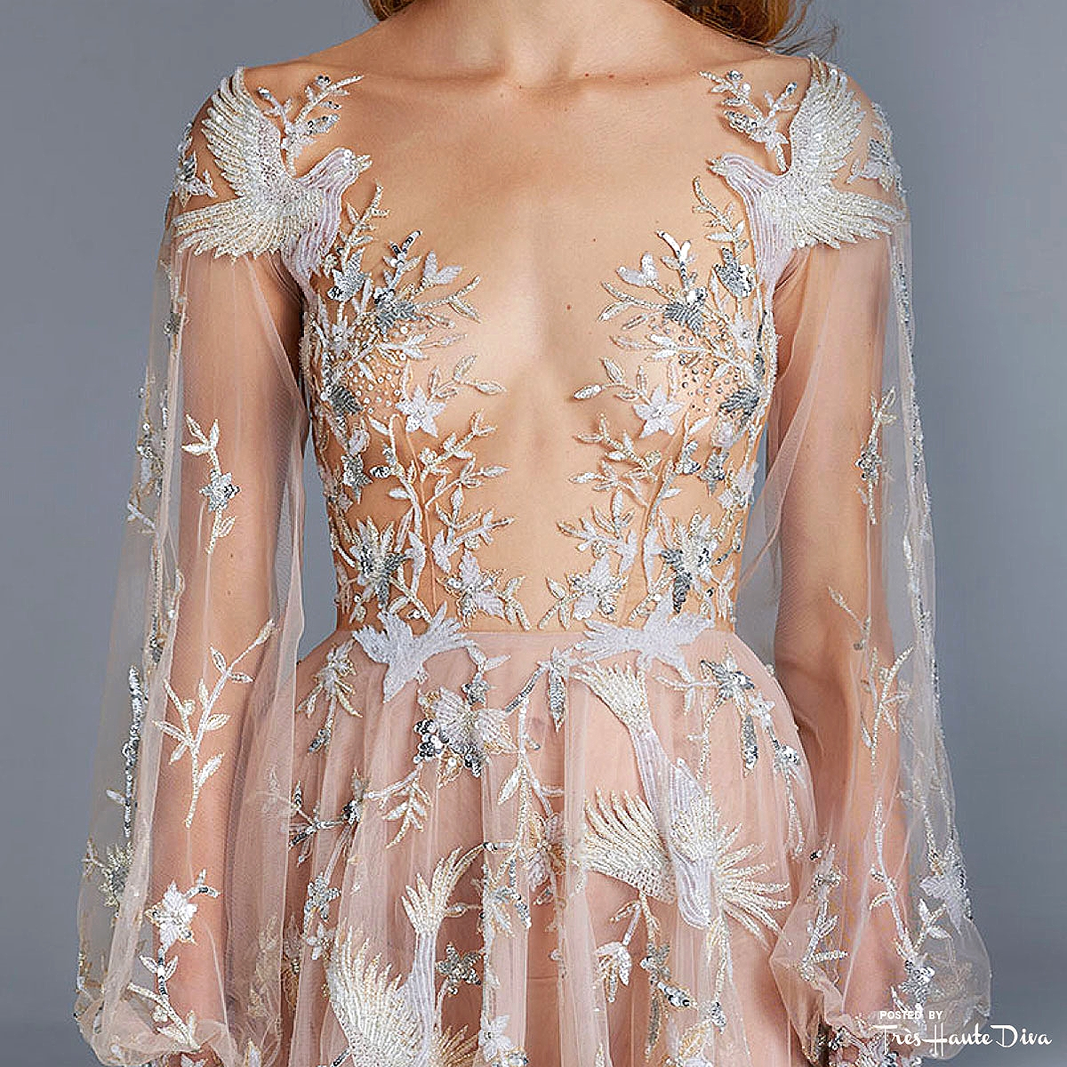 Paolo Sebastian Couture SS15 detail