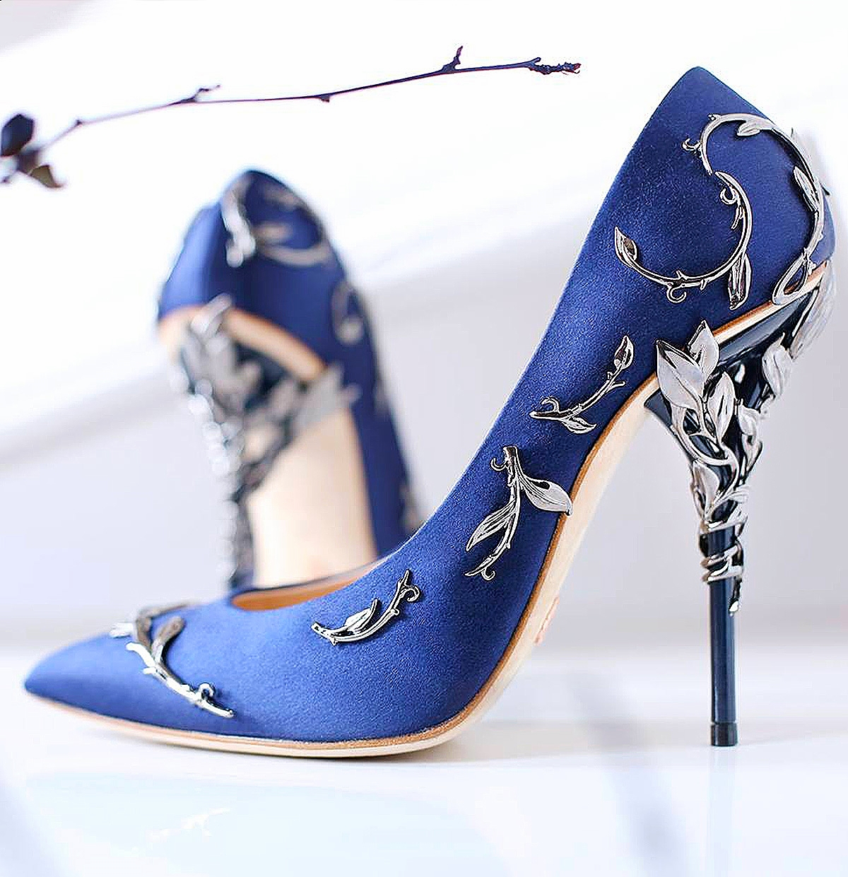 'Eden' Pumps in Midnight Blue AW15/16 pre-order at Harrod's Bourique
