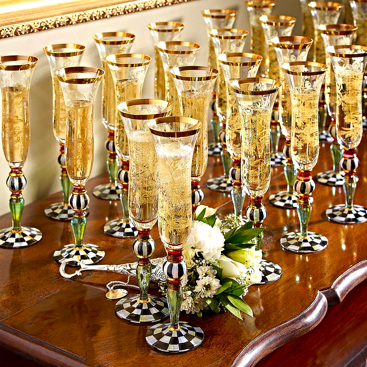Blooming Champagne Flutes