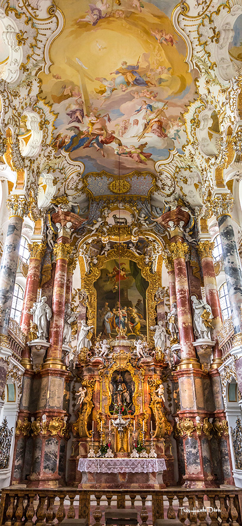 Rococo Interior of the Pilgrimage Church, Wies, Germany