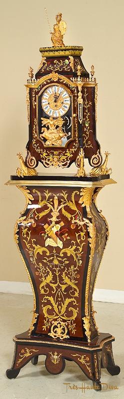 Mahogany and Inlay Floor Clock, Naurelle