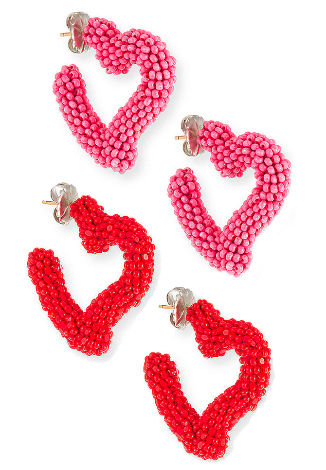 Sachin & Babi Mini Heart Hoop Earrings