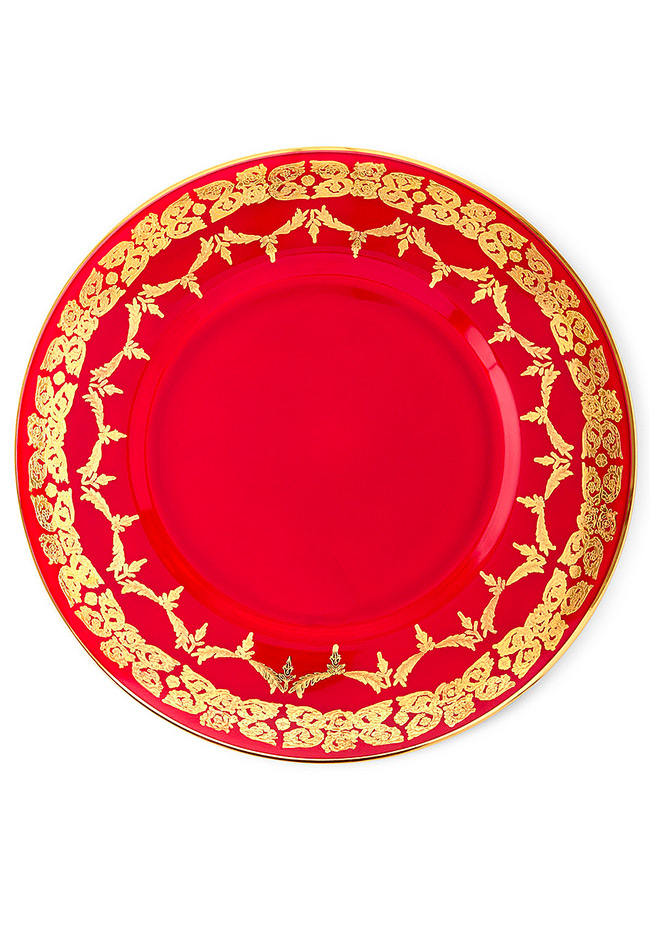 Red Oro Bello Charger & Dinner Set