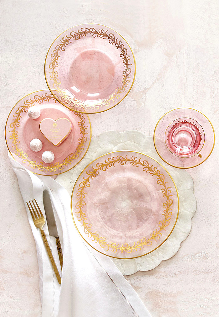 Blush Oro Bello Dinner Plates