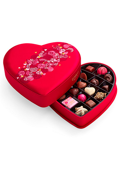 Godiva Chocolatier 25-Piece Medium Fabric Heart Chocolate Box
