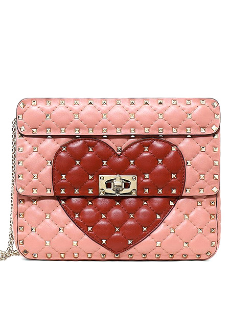 Valentino Medium Heart Spike Bag