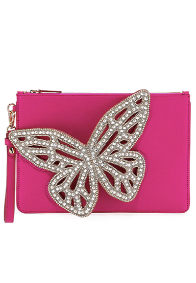 Sophia Webster Flossy Butterfly Pochette Clutch Bag