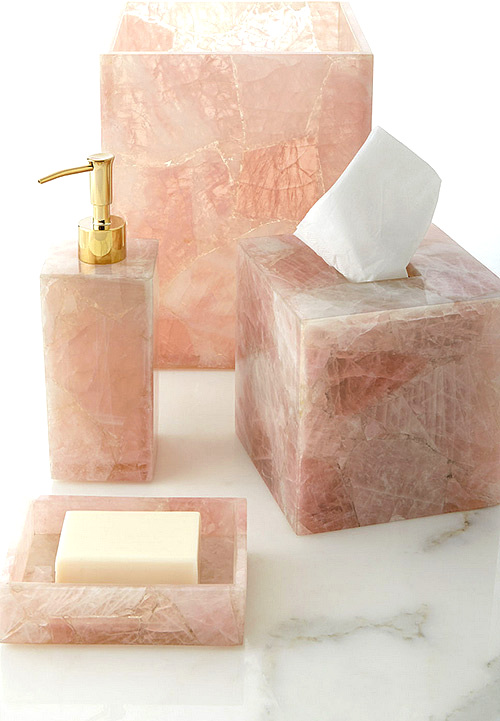 Mike & Ally Rose Quartz Bathroom Vanity Set