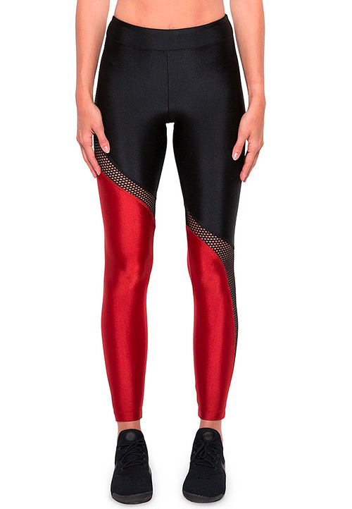 Koral Activewear Venus High-Rise Colorblock Mesh Performance Leggings