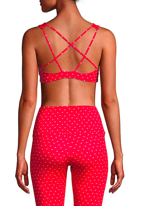 Onzie Mudra Heart-Print Strappy Sports Bra