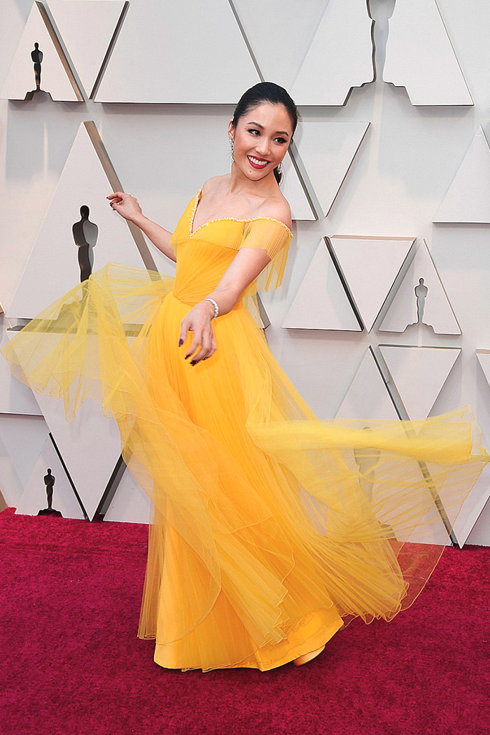 Constance Wu in custom Versace