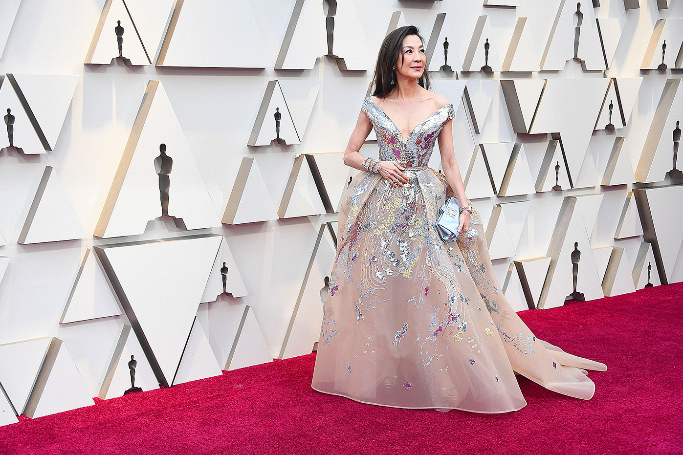 Michelle Yeoh in Elie Saab and Chopard Jewelry
