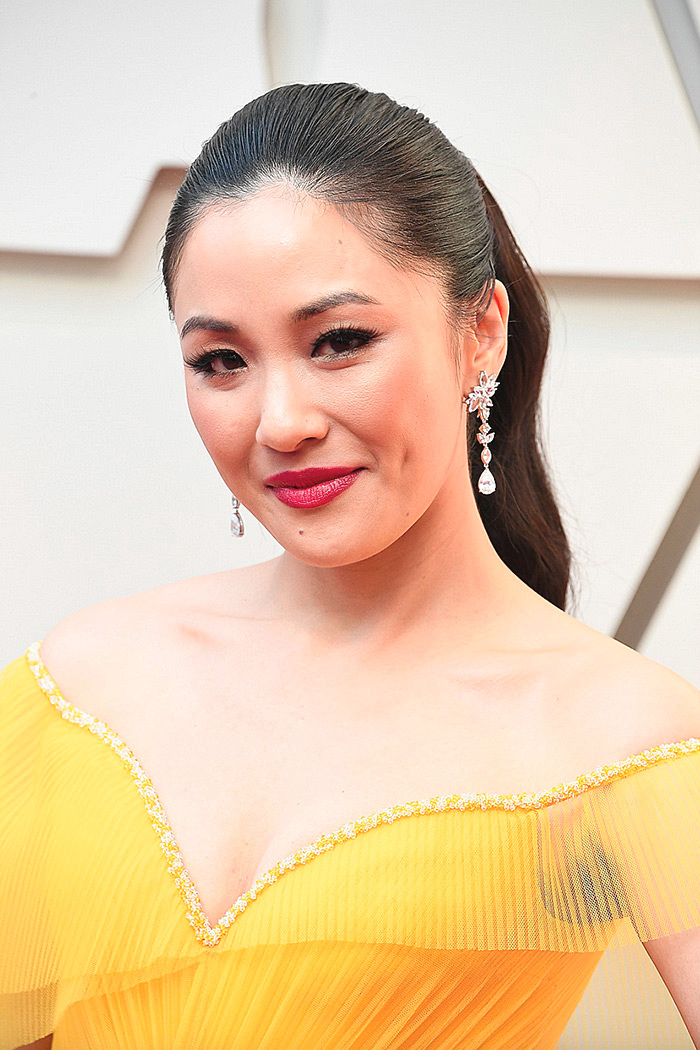 Constance Wu in custom Versace