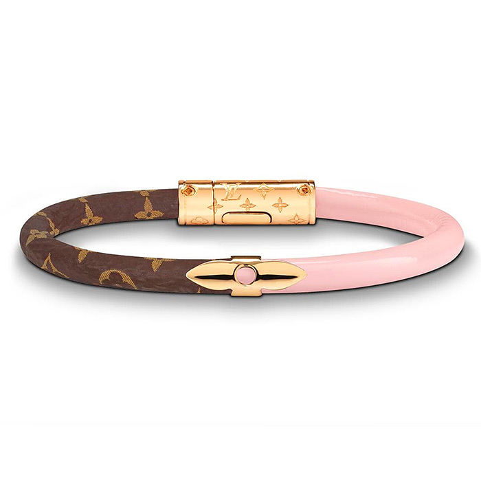 Daily Confidential Bracelet $280.00 in Rose Ballerine pink, Patent calf leather