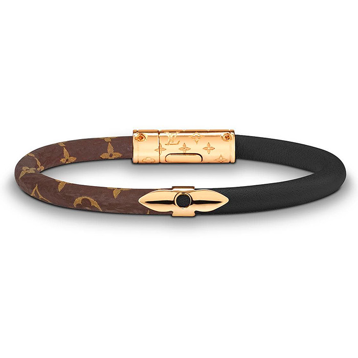 Daily Confidential Bracelet $280.00 Black Patent calf leather