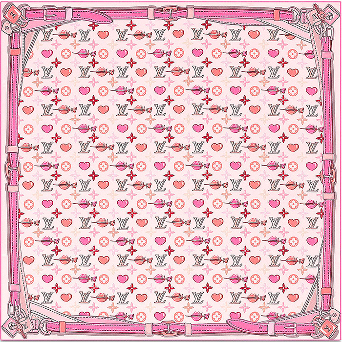 A La Folie Square 27.5 x 27.5 inches Light Pink 100% silk $370.00