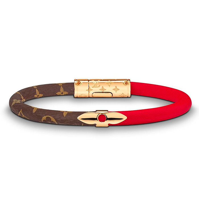 Daily Confidential Bracelet $280.00 Red Patent calf leather