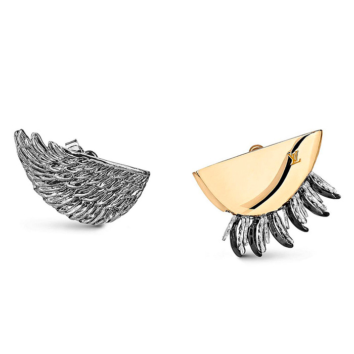 Bionic Earrings Wings and Leaves $585.00 Designed to envelop the ear-lobe, they consist of two complementary pieces