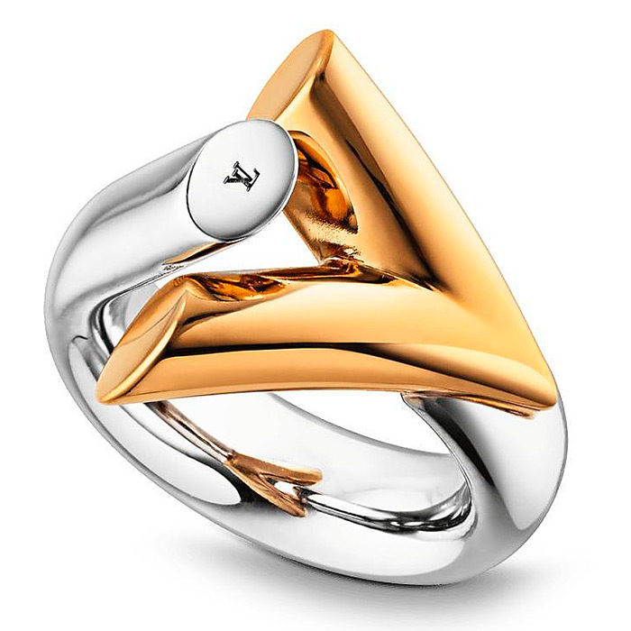 Essential V Bicolor Ring $435.00