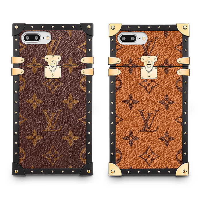 Eye-Trunk for Iphone 7 Plus in Monogram & Monogram Reverse Canvas $1,250.00, 3.4 x 6.6 x 0.5 inches