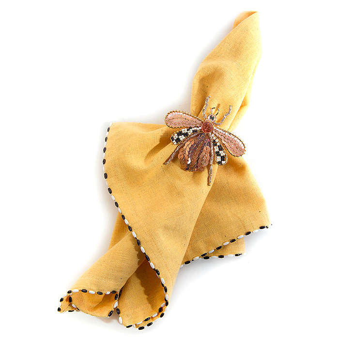 Queen Bee Napkin Ring & Lemon Curd Napkin