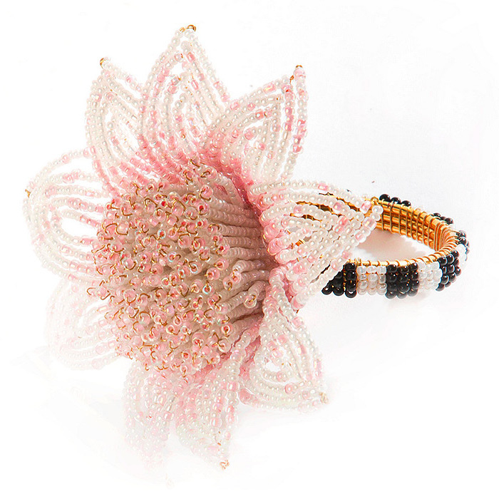 Blossom Napkin Ring - Pink
