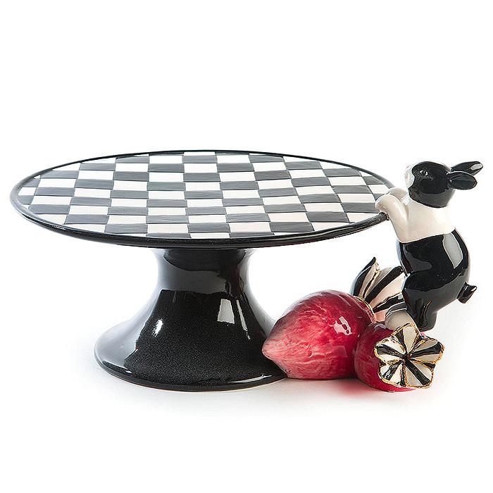 Radish Rabbit Pedestal Platter