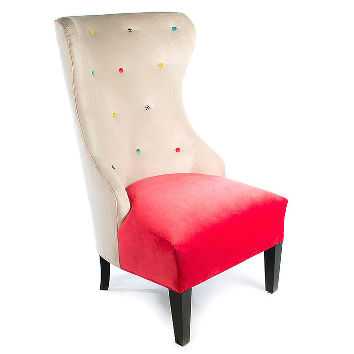 Cream at the Top Hostess Chair - Watermelon