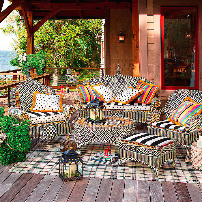 Courtyard Outdoor Loveseat, Courtyard Outdoor Throw Pillows