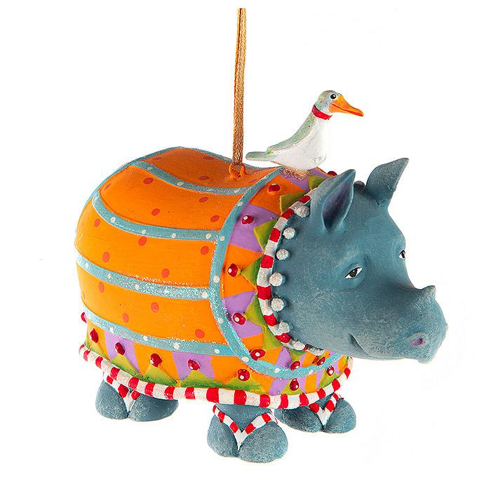 Patience Brewster Jambo Ralph Rhino Ornament